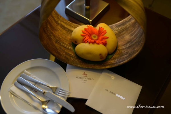 Where to stay in Cebu- Marco Polo Plaza - Complimentary Fruits